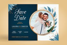Wedding invitation template with image | Free Vector #Freepik #freevector #wedding #invitation #family #template