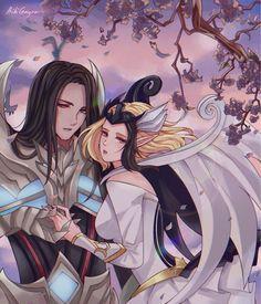 Lunox x Leomord 😍 Miya Mobile Legends, Alucard Mobile Legends, Moba Legends, Celtic Warriors, The Legend Of Heroes, Mobile Legend Wallpaper, Black Clover Anime, League Of Legends, Manga Anime
