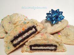 oreo stuffed cake batter cookies