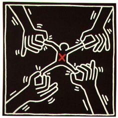 When I take on too much!!  Love Keith haring's art.