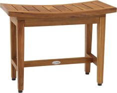AquaTeak designs and creates only the best and highest quality teak shower benches and bath stools available. Buy Furniture Online, Furniture Deals, Bath Stool, Bathroom Stools, Curved Bench, Twig Furniture, Teak Oil, Lotus, Shower Benches