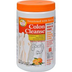 Health Plus Colon Cleanse Orange - 9 oz - Health Plus Colon Cleanse Orange Description:    Sweetened with Stevia  Healthy Sweetener Without Calories  Sweeter Than Table Sugar  All Natural Ingredients  Sugar Free 100% Natural  Contains 38 Servings Recommended For: Fiber Intake Regularity Low Carb Diets Diabetic and Cholesterol Management   Maintain Regularity #1 in a series of 8 body cleansing products from Health Plus.   The next step in internal cleansing: While continuing with Colon…
