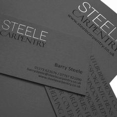 Ampersandesign | Portfolio | Brand Communication | Graphic Design #print #design #graphics #graphicdesign #branding #logo #brand #identity #stationery #businesscards #typography #steel #serif #sansserif #grey #colorplan #uncoated #pewter #foil #embossing #stamping #foiling #carpentry #joinery #carpenter #joiner