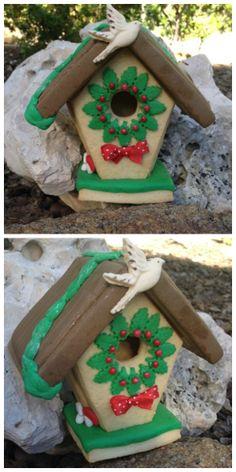 Casita de Navidad de galletas