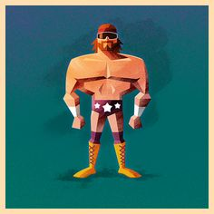 """Macho Man"" Randy Savage - WWE illustration by James White James White, Hulk Hogan, Comic Character, Character Design, Superhero Cartoon, Cartoon Man, Watch Wrestling, Wrestling Posters, Wrestling Superstars"