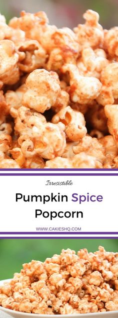 Pumpkin Spice Popcorn is the perfect snack for the fall and winter. This recipe is super delicious and easy to make. An irresistible pumpkin spice snack. Serve it for Thanksgiving or package it and give it away as a Halloween treat!