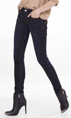 Dark Low Rise Jean Legging from EXPRESS