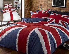 Gorgeous Union Jack British Flag Duvet Cover Set All Sizes 3 Colours