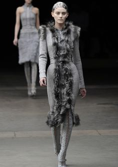 McQueen. I'd wear this in a heartbeat... well, if I had a modelesque body