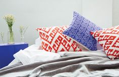 bococo screen printed cushions