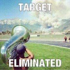 Tuba. I do this all the time