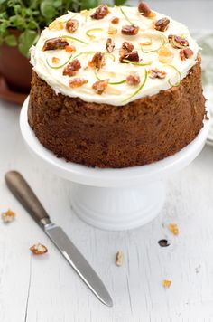 Zucchini lime and pecan cake