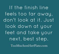 Emotional eating help from http://toomuchonherplate.com. Don't get overwhelmed by what you want to do. It's a marathon, not a sprint!
