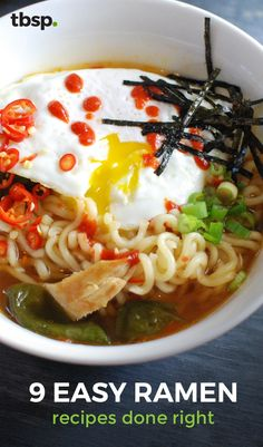 Ramen is so much more than the cheap midnight snack you ate in college. With a few extra ingredients you can transform this dorm-room dish into a totally respectable adult dinner.