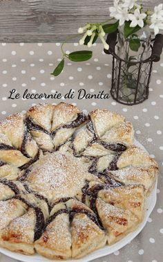 Le leccornie di Danita: Intreccio di sfoglia con crema di nocciole da forn...