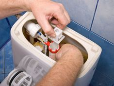 This tutorial teaches an easy repair for a leaky toilet tank drain flush valve using the Fluidmaster Flusher Fixer. Clogged Toilet, Flush Toilet, Water Saving Tips, Bathroom Repair, Toilet Cistern, Plumbing Problems, Steam Showers Bathroom, Bathrooms, Toilet Cleaning