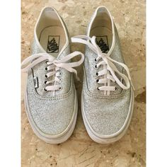 4ca9d0958a25 Shop Women's Vans Silver White size 8 Sneakers at a discounted price at  Poshmark.