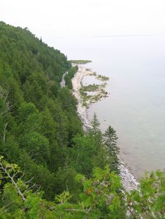 Mackinac Island, MI - view from the top looking down along the shoreline