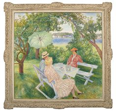 Arne Kavli – Fra haven på Rønnes Norman, Painting, Image, Art, Paint, Draw