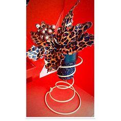 Leopard Print Christmas Decor Christmas Vase by DashofFlair