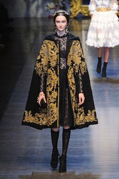 I'm loving the Dolce and Gabbana Fall Collection for 2012.  While it's out of my budget, it is inspiring me to create some of my own designs using needlework and tapestry.