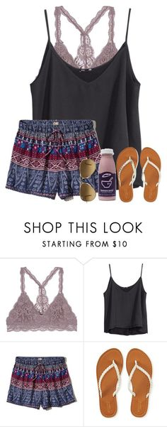 """this is cute"" by alexislynea-804 ❤ liked on Polyvore featuring H&M, Hollister Co., Aéropostale and Ray-Ban"