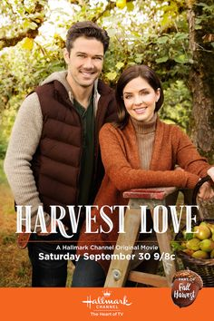 Harvest Love - Jen Lilley and Ryan Paevey. Take a moment to catch your breath, and make a date with Harvest Love on September 30 at 9/8c on Hallmark Channel!
