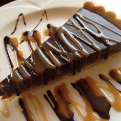 #Chocolate Caramel Torte on #Napa Valley Wine Train - In a word, #yum. #cake. Photo by @rickbakas