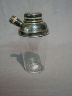 antique auction catalogue search for silver cocktail shaker