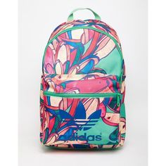 adidas Originals x Farm Banana Print Backpack ( 40) ❤ liked on Polyvore  featuring bags bbfa85c722e6b