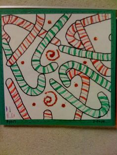 Oodles of Art: 2nd Grade, love this idea for pattern and overlapping!