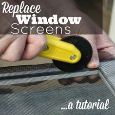 Now that Spring has arrived, we like to open our windows and let some fresh air in the house.  The problem is, we have old worn out screens with rips and tears…