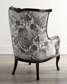 Massoud Celeste Wing Chair