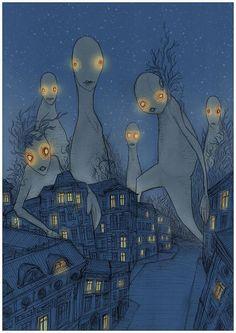 Forest Blue by Łukasz Bogdanowicz, via Behance Behance, Illustration, Poster, Blue, Painting, Art, Art Background, Painting Art, Kunst