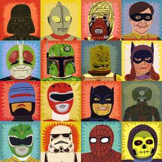 Heroes and Villains by Jack Teagle (also available as awesome wrapping paper!)