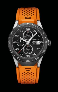 TAG Heuer's Connected luxury smartwatch debuted in New York. In addition to the chronograph function, which acts as a stopwatch, Connected features date and alarm complications.