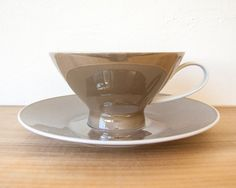 Raymond Loewy for Rosenthal china  tea cups by RivetedStudio, $175.00