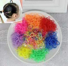 TS 10g 200/600 unids Baby Girl Niños Titulares Ponytail Elásticos Del Pelo Banda de goma De Caucho Lazo headwear tiara niños accesorios para el cabello
