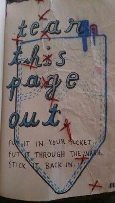 Wreck this journal idea.