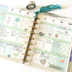 Mint and silver for next week in my @the_happy_planner Loved the free printable from @myplannerenvy ❤️