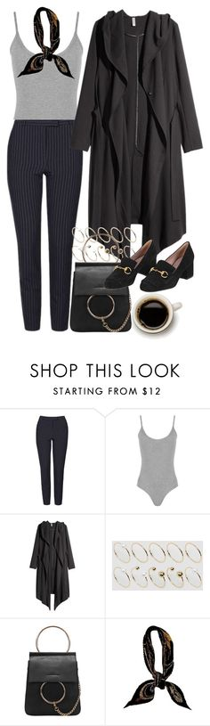 """""""Untitled #9759"""" by nikka-phillips ❤ liked on Polyvore featuring Topshop, WearAll, H&M, ASOS Curve, Hermès and Gucci"""