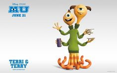 Wallpapers Monsters University Terri and Terry.