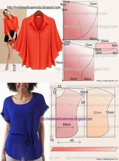 Amazing Sewing Patterns Clone Your Clothes Ideas. Enchanting Sewing Patterns Clone Your Clothes Ideas. Sewing Dress, Dress Sewing Patterns, Clothing Patterns, Blouse Pattern Free, Blouse Patterns, Blouse Designs, Sewing Blouses, Make Your Own Clothes, Sewing Basics
