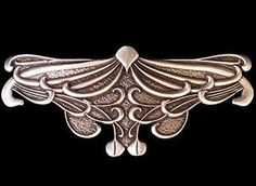 ART NOUVEAU LEAF Oberon Design PEWTER BARRETTE jewelry hair clip hand-poured USA | eBay