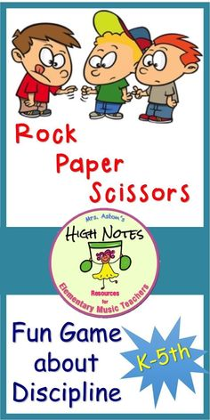 Use this game to teach respect and self-discipline. Different way to play an old game. Classroom Management Plan, Management Games, Classroom Discipline, Rock Paper Scissors, Positive Behavior, Elementary Music, Classroom Inspiration, Music Classroom, Music Education