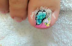 Cute Pedicures, Pedicure Nails, Manicure, Toe Nail Art, Toe Nails, Luxury Nails, Toe Nail Designs, Nail Polish, Turquoise