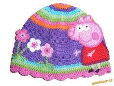 OMG- how cute is this hat!  picture tutorial for pig lady (instructions in Czech I think)