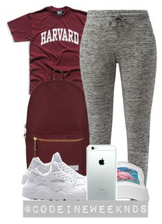 """10/16/15"" by codeineweeknds ❤ liked on Polyvore featuring Herschel Supply Co., NIKE, women's clothing, women's fashion, women, female, woman, misses and juniors"