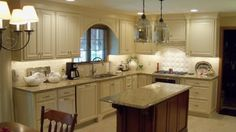 Planning a kitchen...Bridgewood cabinets reviews. The Easton door style, painted finish. This is very similar to my kitchen layout.