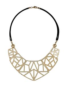 Collier plastron tribal - Dorothy Perkins - 19€ Modern Jewelry, Jewelry Art, Gold Jewelry, Beaded Jewelry, Jewelery, Jewelry Design, Fashion Jewelry, Bling Bling, 3d Printed Jewelry